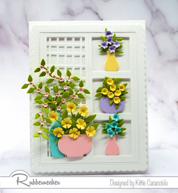 A card with soft colors looks so pretty framed on an all white background.