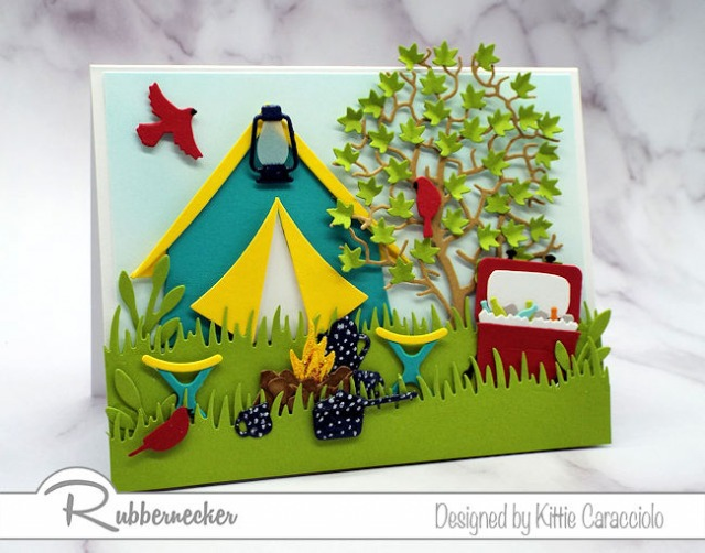 Click through to see all the fun details on this handmade camping card!
