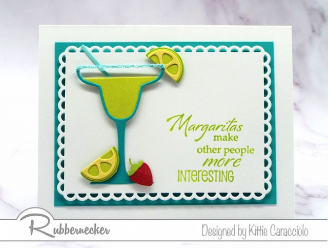 Create a margarita cardto send to family and friends to invite them to a virtual happy hour.