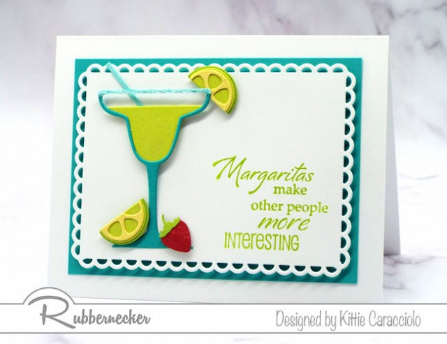 A margarita card and coordinating sentiment is perfect to send to family and friends to invite them to a virtual happy hour.