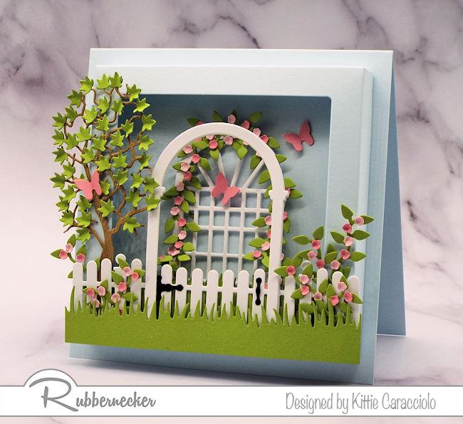 Square Shadow Box Frame for Dimensional Cards