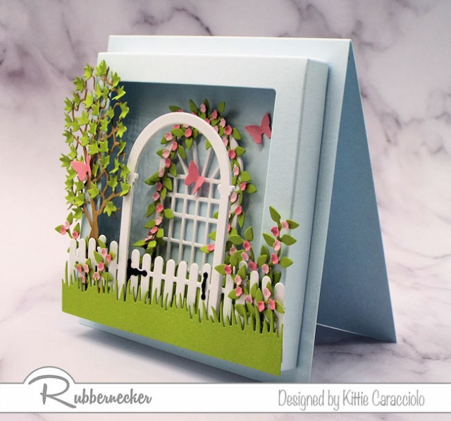 If you love creating cards with depth and dimension you will love using the new square shaow box frame by Rubbernecker.