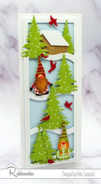 Believe it or not this winter gnome card was easy to make using dies from Rubbernecker - come get all the details!
