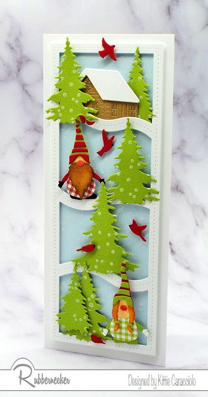 A Cute Slimline Winter Gnome Card!