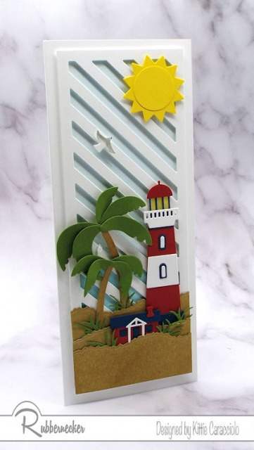 I made this slimline lighthouse card using a brand new slimline die from Rubbernecker - come check it out!
