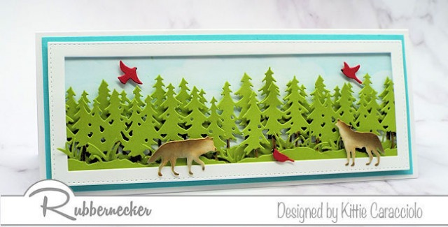 Want to make a wolf greeting card? Click through to learn how!