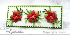 Slimline Poinsettia Card