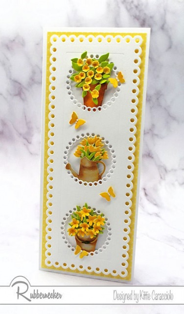 Click through to see this flower card design up close - it was SO much fun to make!