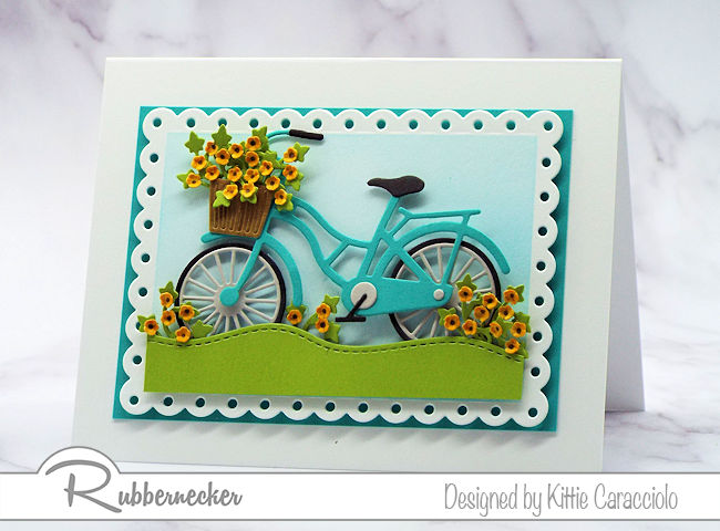 Bicycle Greeting Card with Fall Flowers