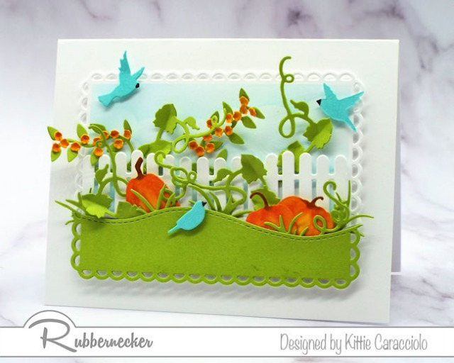 happy fall greeting cards featuring die cut autumn elements arranged in a charming scene