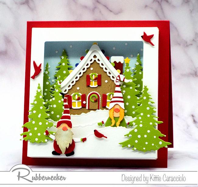 A Cute Gnome Shadow Box Card