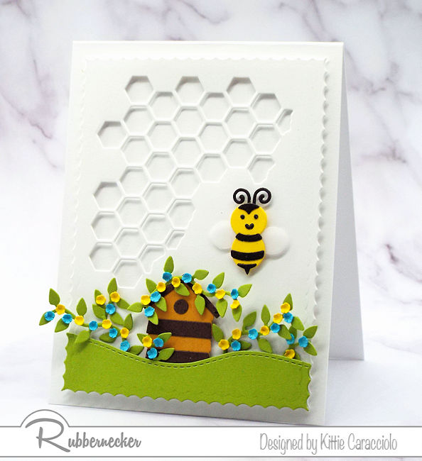 A Honeycomb Background Makes This Card!