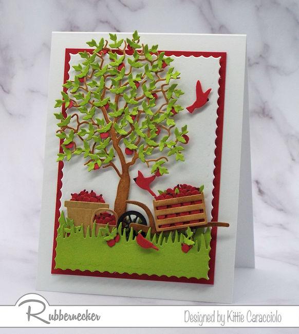 Tiny Leaf Die Cut + Apples = A Harvest Card!