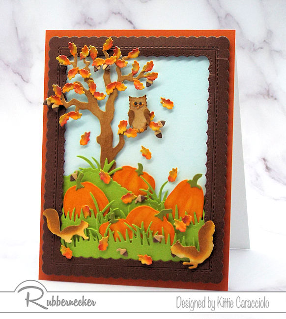 Fall Cards Complete With Falling Leaves