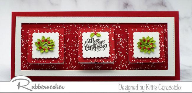 A Christmas Slimline Peek A Boo Card!
