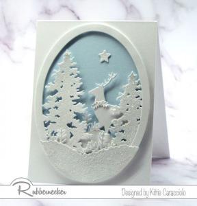 A Sparkly White on White Christmas Card Idea