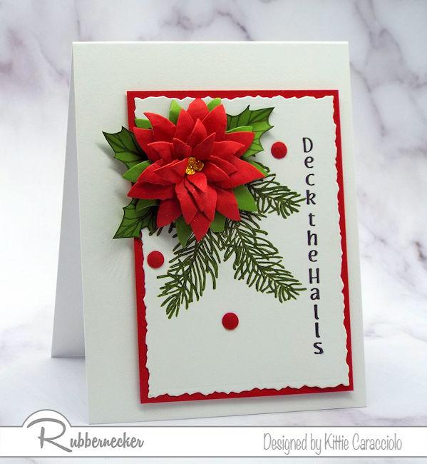 DIY Poinsettia Christmas Cards