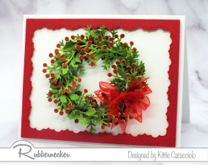 How To Make a Wreath With Die Cuts