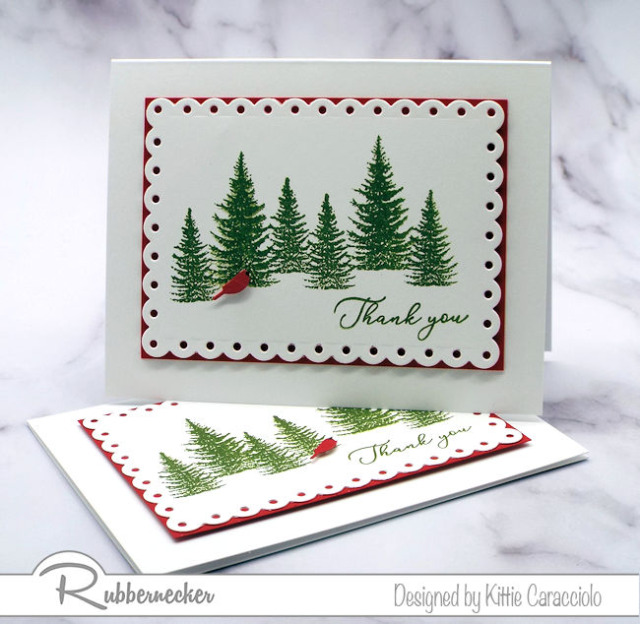 We are always so busy during the holidays and we need to be able to make fast and easy DIY Christmas thank you cards.  Come see how created this card with a couple stamps and dies.