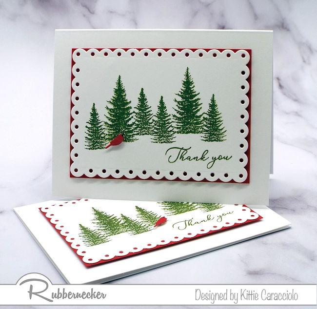 DIY Christmas Thank You Cards