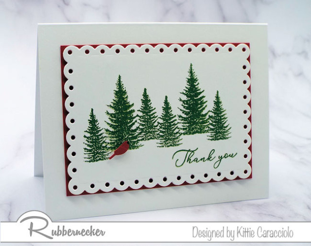 We need to be able to make fast and easy DIY Christmas thank you cards after the holidays.  Come see how I made this card with a couple fo stamps and dies.