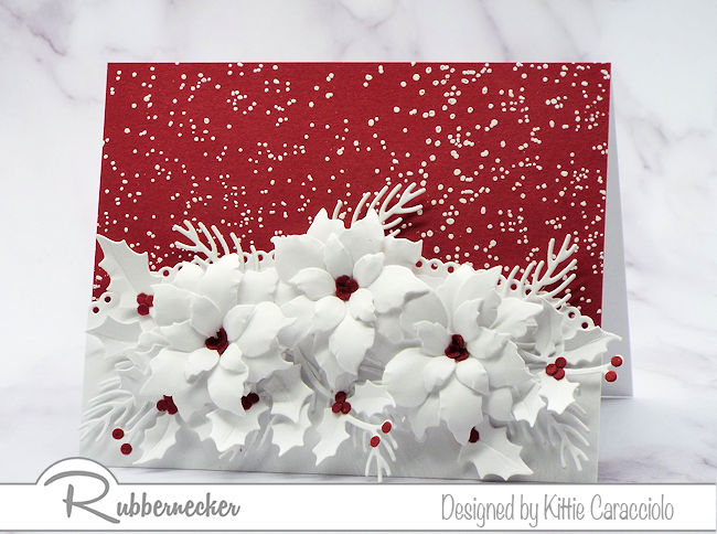 Poinsettia Cards To Make Using Die Cuts