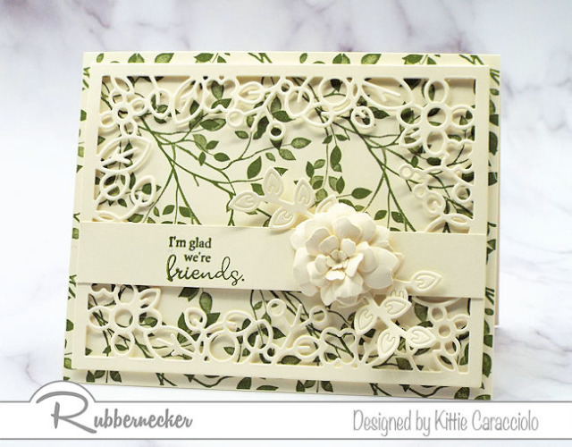 One of my friend card ideas that can be easily modified to use for any occasion.  These stamps and dies are all from Rubbernecker.