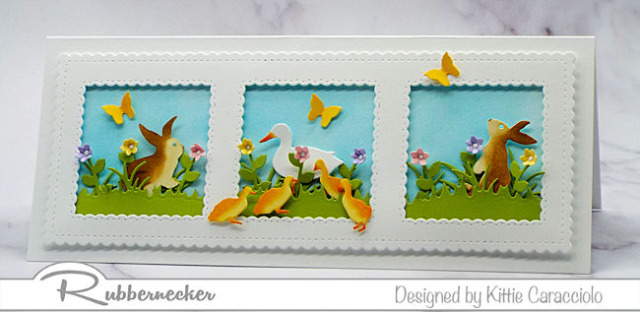 Come over to see one of my favorite ideas for making slimline happy spring cards.