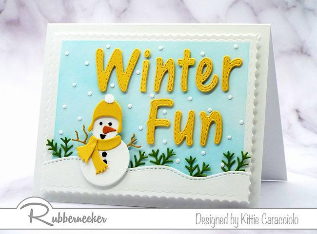A Super Cute Handmade Snowman Card!