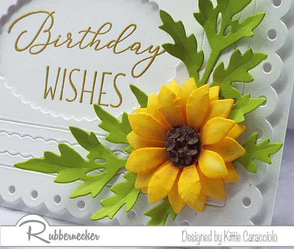 Make a stunning sunflower paper flower like this using die cuts from Rubbernecker and some of my simple tips