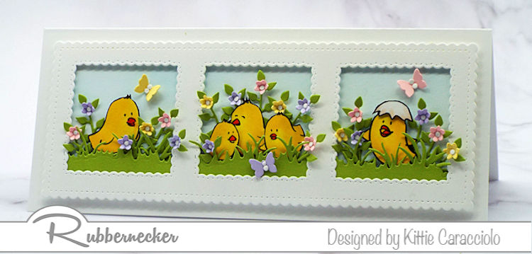 Easter Chick Cards To Make Slimline Style!
