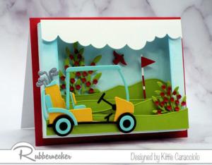 A Fun Shadow Box Greeting Card for Golfers!