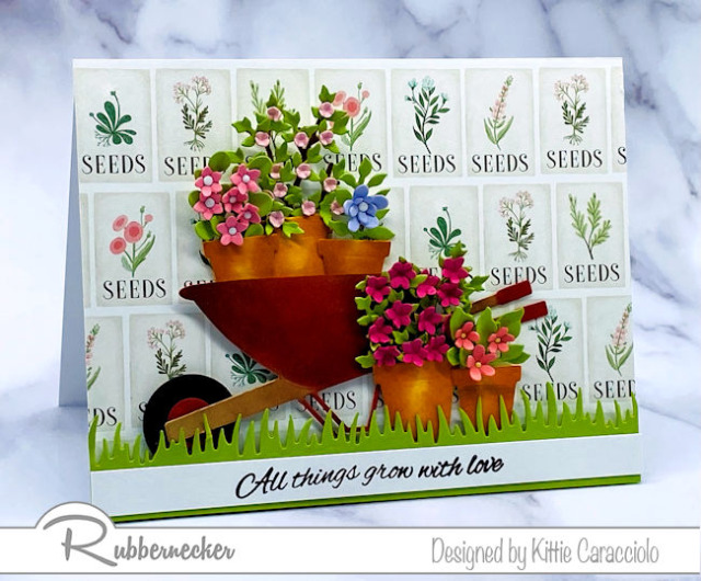 Amazing details make this die cut flower card look completely realistic