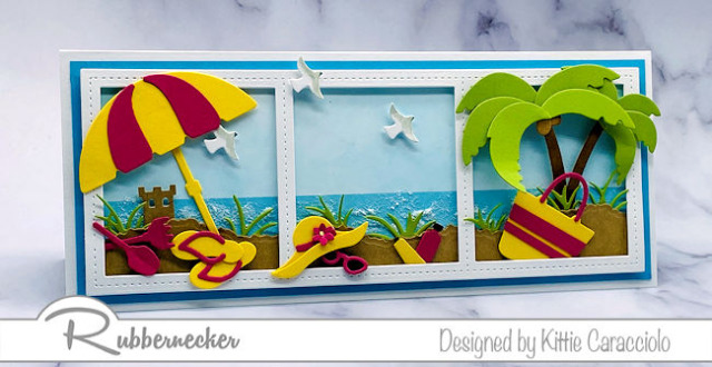 get ready for summer with some slimline cards - beach themed and ready to wow