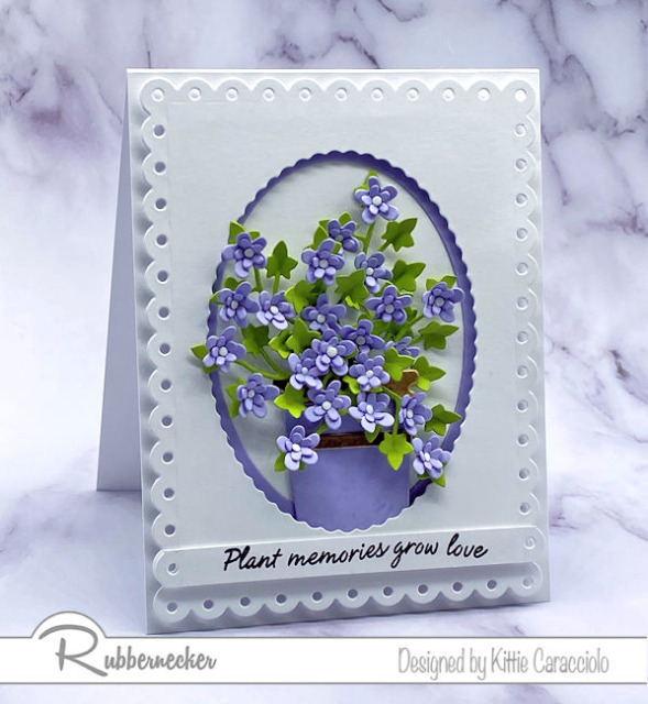Come see today's video tutorial and learn how to add shape to die cut flowers like the ones used here from Rubbernecker