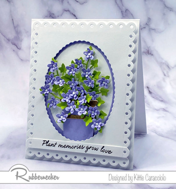Today's video shows you how to add shape to die cut flowers like these from Rubbernecker on all your handmade greeting card projects