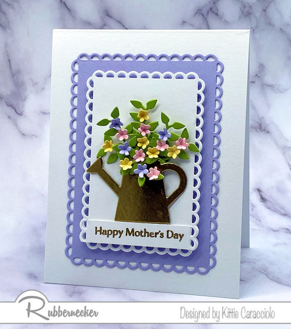 see how to make a mother's day card using this design or by adding the perfect greeting from Rubbernecker