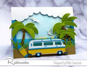A Fun Retro-Style Surf Van Card!