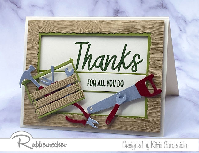 A Tool Box Card Made From Die Cuts!