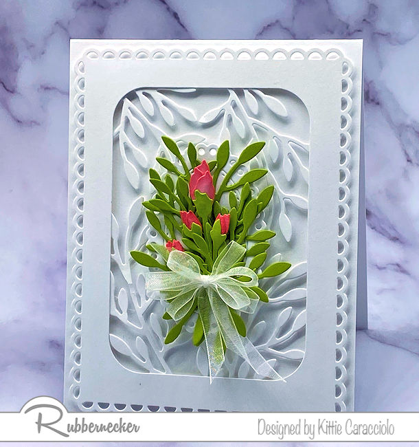 A White on White Handmade Floral Card Idea