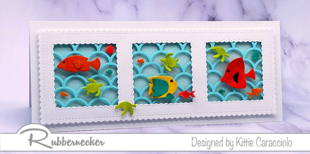use this handmade tropical fish card with its bright fish and wave background for lots of different card sending reasons