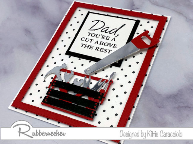 an idea for father's day cards to make with tiny tools and a tongue in cheek greeting all from Rubbernecker