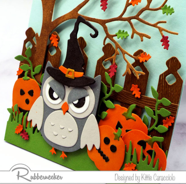 Look at the details on this pick of DIY Halloween cards - they are all from using dies from Rubbernecker