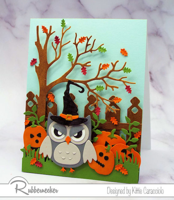 DIY Halloween cards made with lots of details thanks to dies from Rubbernecker