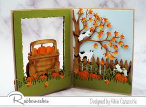 A Handmade Double Sided Open Frame Card!