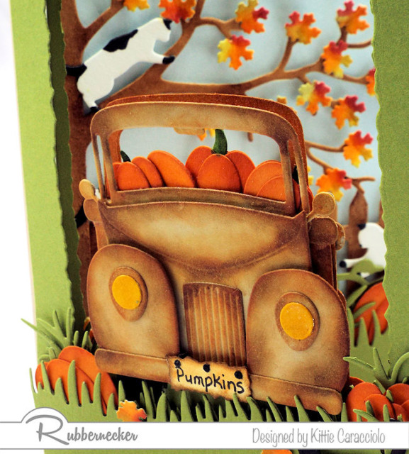 see a video tutorial on how to color old truck die cuts to give them this fabulous rusty vintage look