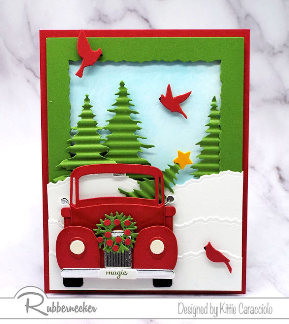 learn how to assemble Rubbernecker old truck die cuts for handmade greeting cards - video tutorials loaded with pro tips