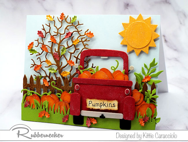 Handmade Red Truck Cards For Fall!