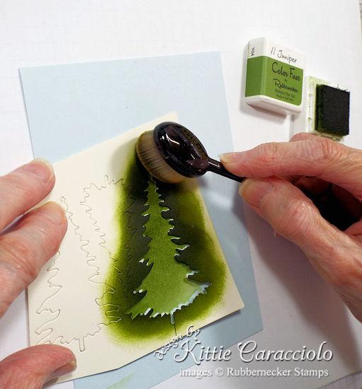 Evergreen Tree Stencil 1