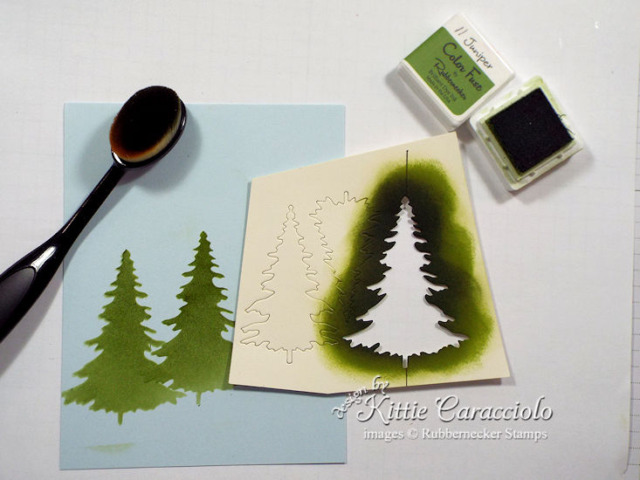 Evergreen Tree Stencil 2